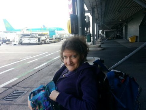 Prendendo l'aereo,getting on the plane