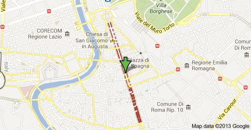 Piazza Di Spagna Cartina.Via Del Corso Il Mondo Di Cate