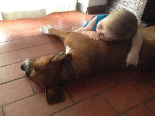 Paolo con il suo cane Rudy