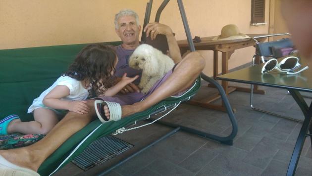 Luisa con Casper